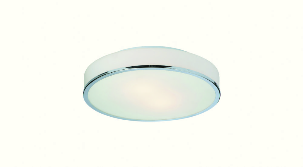 Firstlight 5756CH Chrome with Opal Glass Profile Flush Fitting - Round
